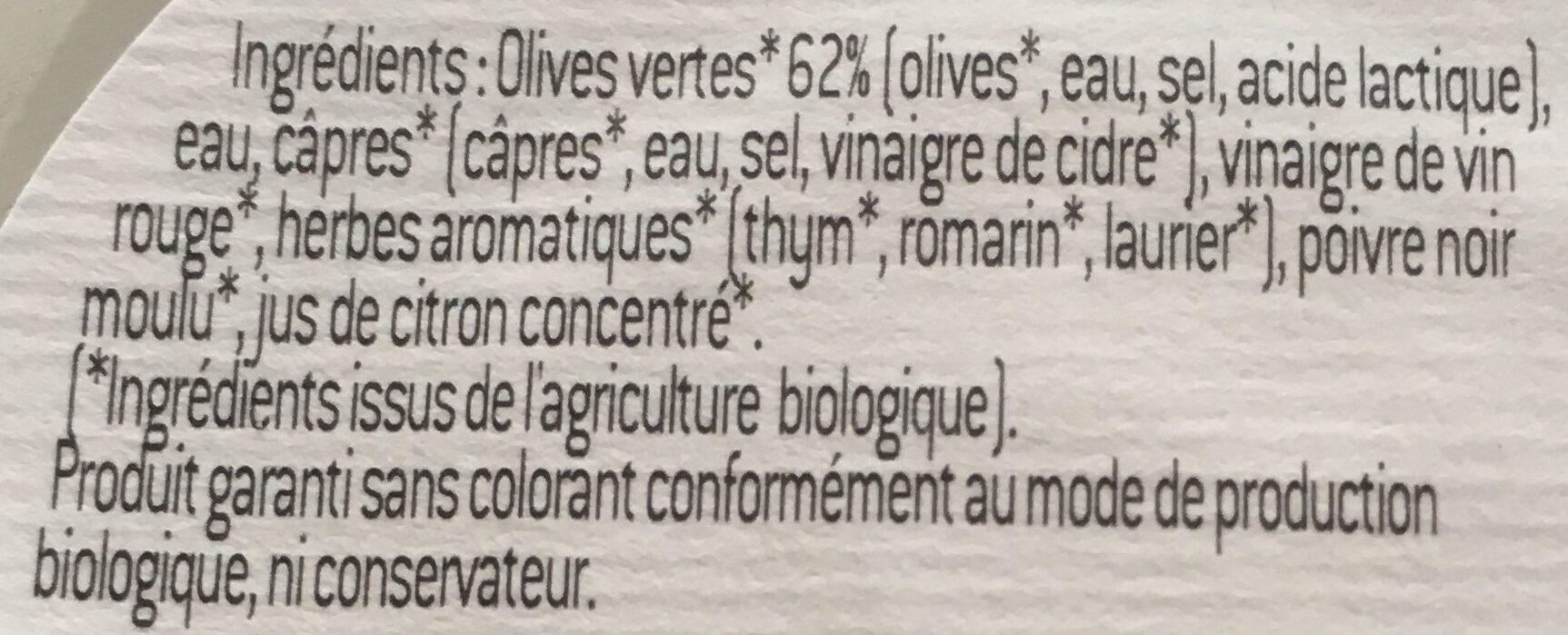 Olives vertes - Ingredients - fr