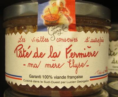 """Paté de la Fermière """"Ma mère Élyse"""" - Produit - fr"""