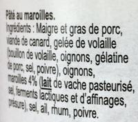 Pâté Ch'ti au maroilles - Ingrédients - fr