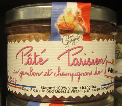 Pâté Parisien au Jambon et Champignons de Paris - Produit - fr