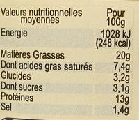 Pâté Gascon à l'Armagnac et aux Pruneaux d'Agen - Informations nutritionnelles - fr