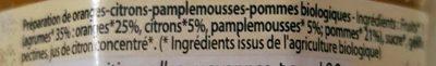 Confiture Orange Citron Pamplemousse Bio - Ingrediënten - fr