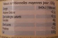 Confiture Orange Citron Pamplemousse Bio - Voedingswaarden - fr