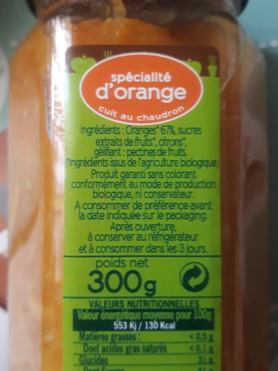 Spécialité d'Orange Cuit au Chaudron - Ingrediënten - fr