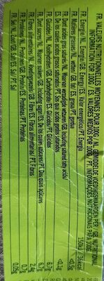 Purée De Fruits Rhubarbe Pommes - Informations nutritionnelles - fr