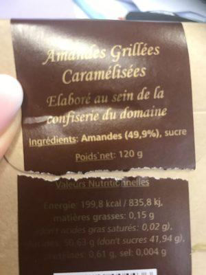 Amandes grillées caramélisées - Ingredients - fr