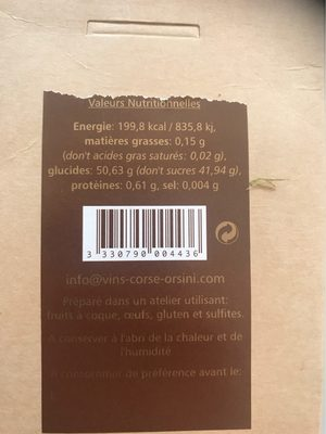 Amandes grillées caramélisées - Nutrition facts - fr