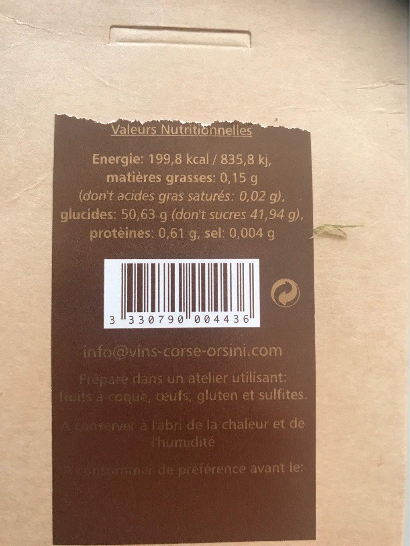Amandes grillées caramélisées - Informations nutritionnelles