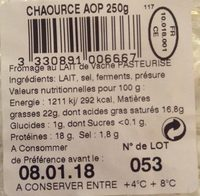 Chaource - Ingrédients