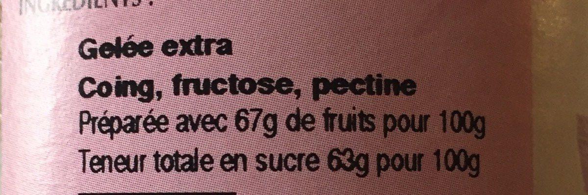 Gelee de coing - Ingredients - fr
