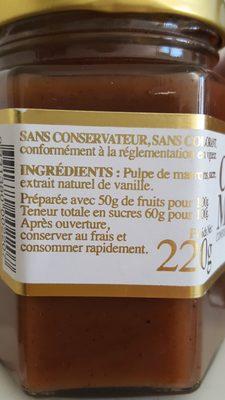 Crème De Marrons De Collobrières - Ingrédients