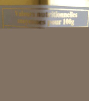 Crème De Marrons De Collobrières - Informations nutritionnelles
