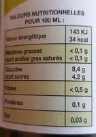 Apfelschorle - Nutrition facts
