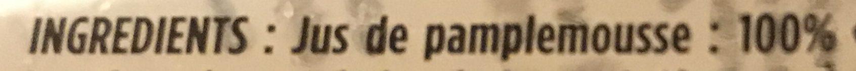 Jus Pamplemousse - Ingredients - fr