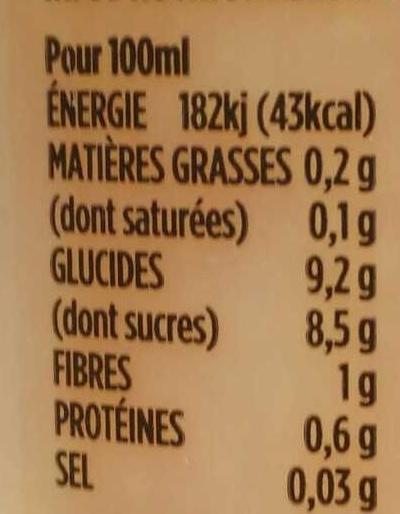 Oranges - Fraises - Voedingswaarden - fr