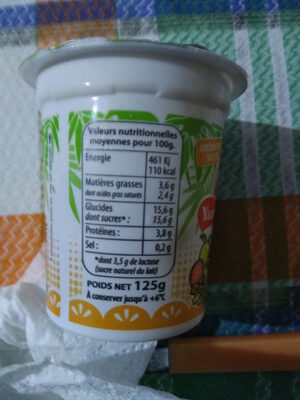 Yaourt Aromatisé - Nutrition facts