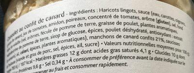 Le cassoulet landais au confit de canard - Ingrédients - fr