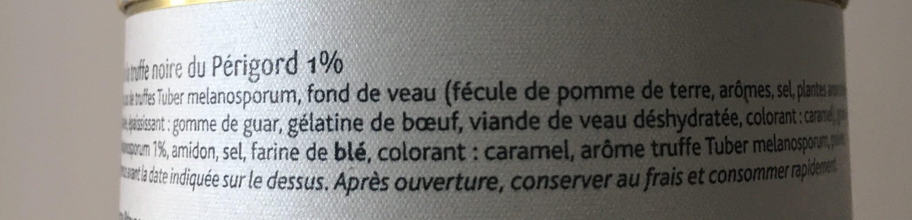 Sauce Périgueux aux Truffes 1% - Ingrédients