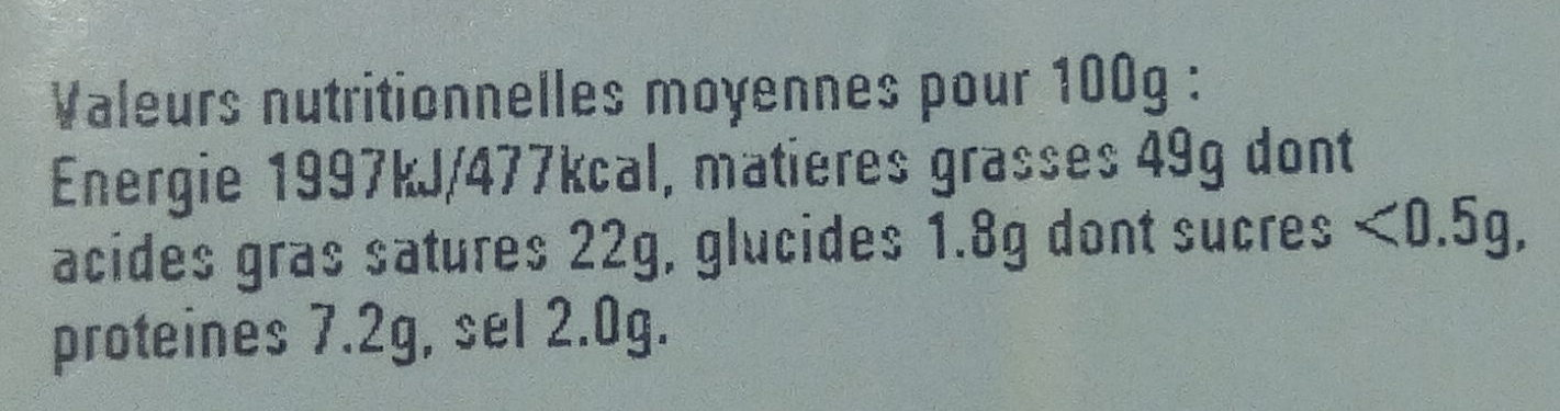 Foie gras de canard mi cuit - Nutrition facts