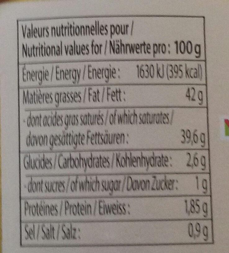 Creme fraiche de Normandie Epaisse 40% - Nutrition facts - fr