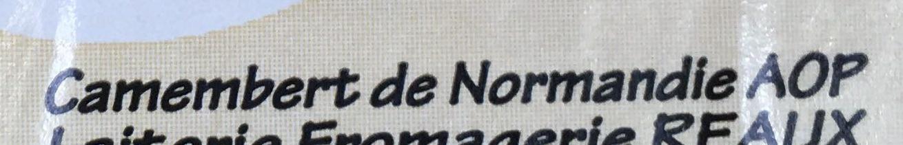 Camembert de Normandie au lait cru spécial affiné - Ingredients - fr
