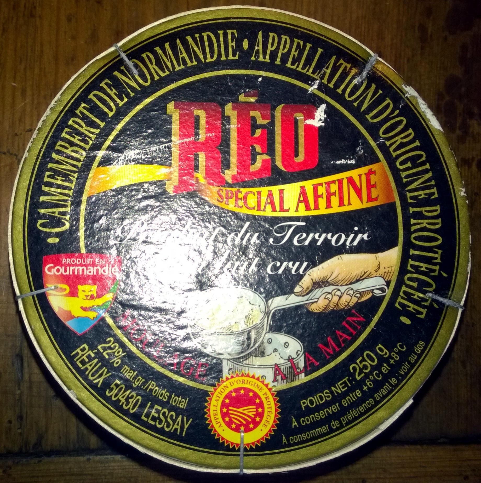 Camembert de Normandie AOP (22% MG) - 250 g - Réo Noir - Product - fr