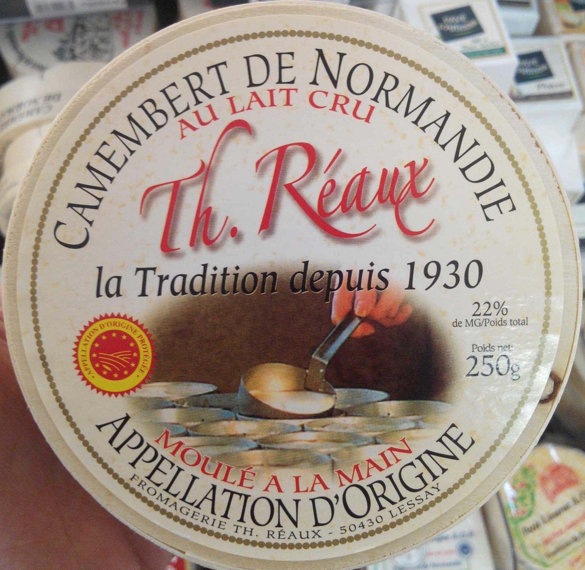 Camembert de Normandie au lait cru (22% MG) - Product - fr