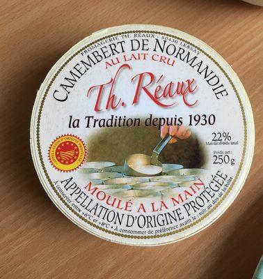 Camembert de Normandie au lait cru (22% MG) - Nutrition facts - fr