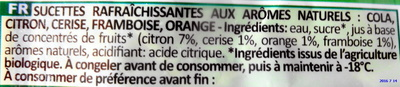 Yéti panachés bio - Ingrediënten - fr