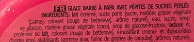 YETI barbe à papa (glace) - Ingrédients
