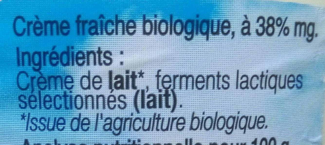 Crème fraîche de Normandie - Ingredients