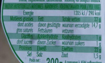 Petit Saint Paulin - Informations nutritionnelles - fr