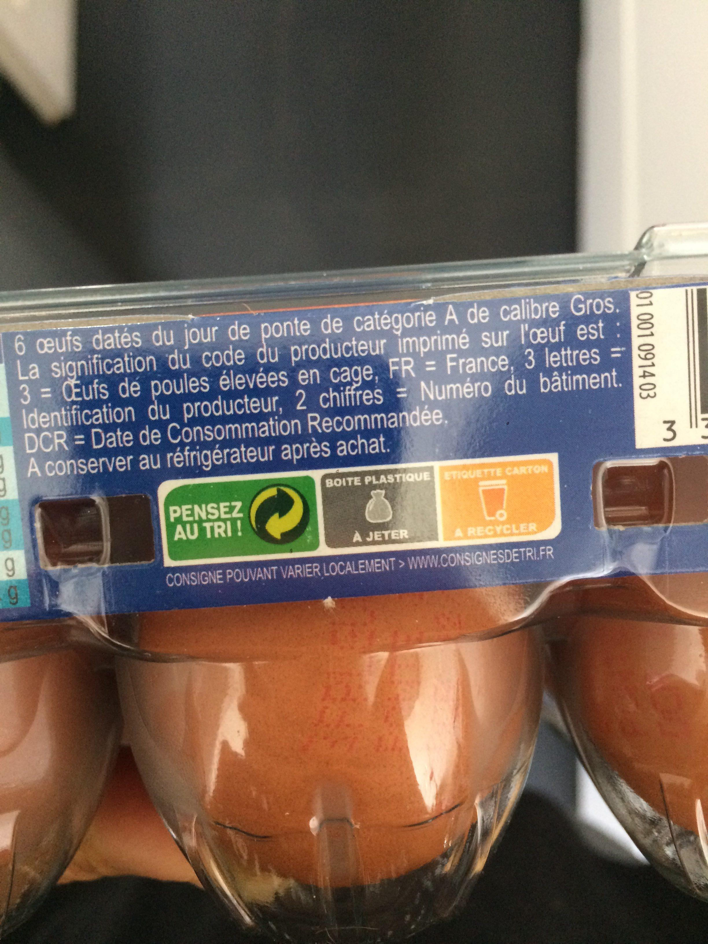 6 Oeufs Dates Gros Pleine Forme, - Ingredients - fr