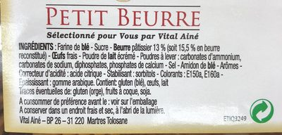 Petit beurre - Ingredients