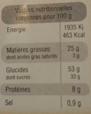 Gaufres patissières - Voedingswaarden - fr