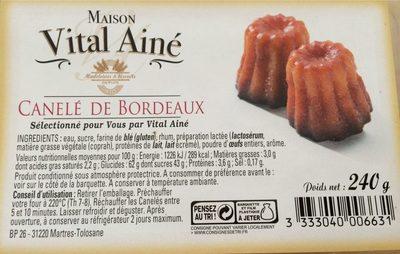 Canelé de Bordeaux - Product