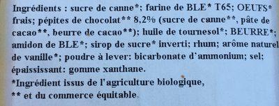 Madeleine longue bio - Ingredients