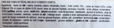 Cake aux trois fruits jaunes - Ingredients - fr