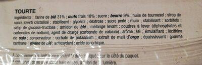 Tourte aux œufs frais - Ingrédients - fr
