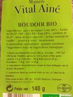 Boudoir bio - Nutrition facts