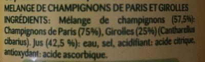 Champignons de Paris Girolles - Ingrédients - fr