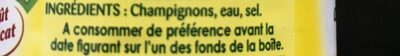 Champignons de Paris émincés - 原材料 - fr