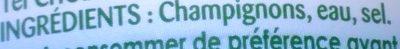 Champignons mini au naturel - Ingrédients - fr