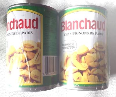 Champignons de Paris pieds et morceaux - Produit