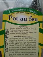 Bouquet garni pot au feu (thym,laurier)barquette de - Ingrédients