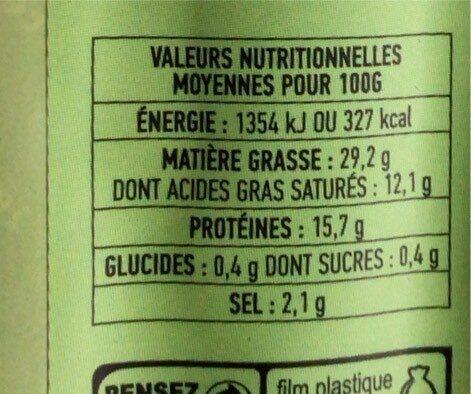 SAUCISSES DE  MONTBELIARD IGP-VPF A CUIRE - Informations nutritionnelles - fr