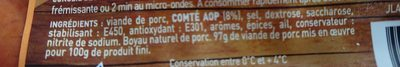 Saucisses fumées au comtè - Ingrédients - fr