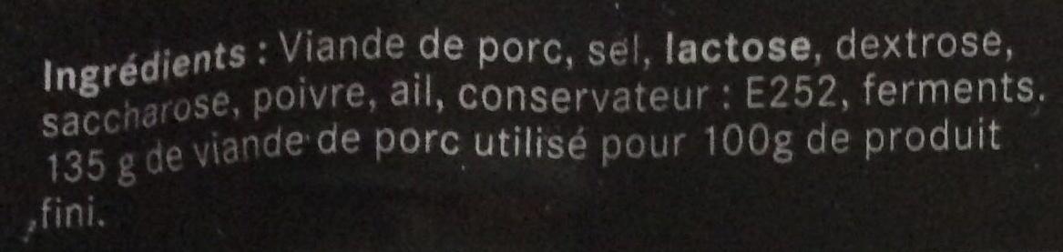 Rosette de Lyon - Ingrédients