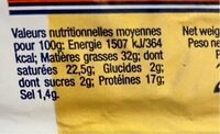 Brie - Nutrition facts - fr
