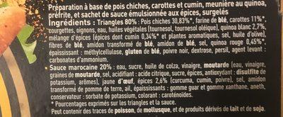Les cuisinés pois chiches carottes cum - Ingrediënten
